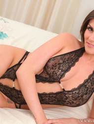 Charlie Rose In Lacy Lingerie