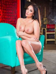 Busty Latina Anissa Kate Strips Off Her Sexy Lingerie