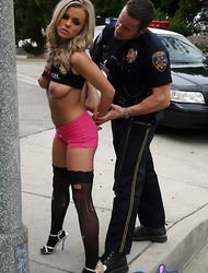 Bree Olson getting busted