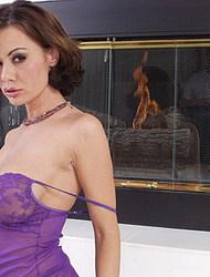Crissy Moran In Purple Nightie