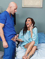 Gia DiMarco drilled by male nurse