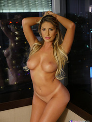 August Ames Showing Her Nice Round Tits