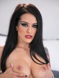 Gorgeous Tattooed Babe Katrina Jade Strips