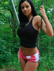Janessa Brazil short shorts