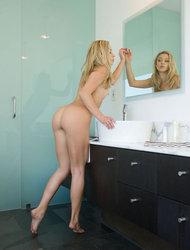 Naked Girl Lena In Her Bathroom