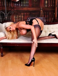 Lucy Zara In Her Amazing Black Lingerie