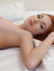 Redhead Michelle H Spreading On Her Bed