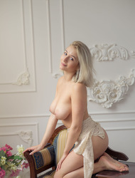 Busty Blonde Babe Isabella In Sexy Lace Lingerie