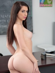 Curvy Schoolgirl Joseline Kelly Strips In The Classroom