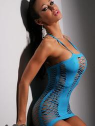 Sandee Westgate little blue dress