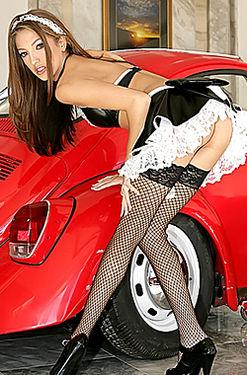 Jenna Haze skimpy maid