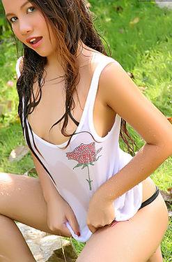 Marina Jang wet tshirt