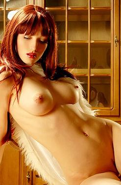 Jade Sexy Nude Redhead Girl