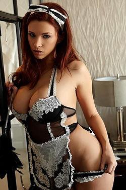 Busty Redhead Maid