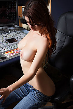 Busty Azura In The Studio