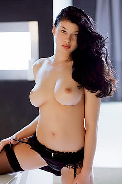 Big Titted Teen In Black Stockings