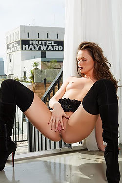 Tori Black Naked On The Hotel Balcony