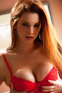 Sabrina Maree In Red Lingerie