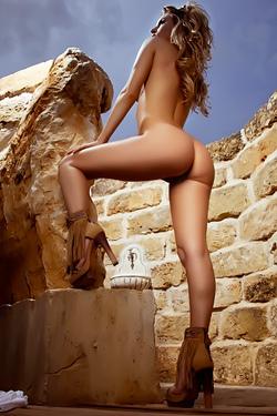 Natasha Gets Naked By The Ruins
