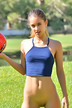 Belicia Plays Soccer Nude