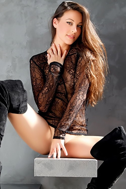 Lorena G Takes Off Her Black Lace