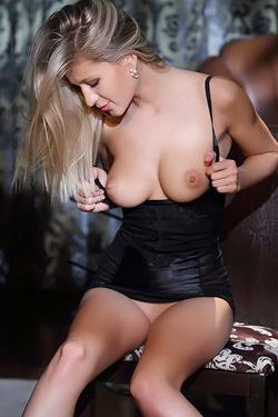 Candice In Sexy Black Silk