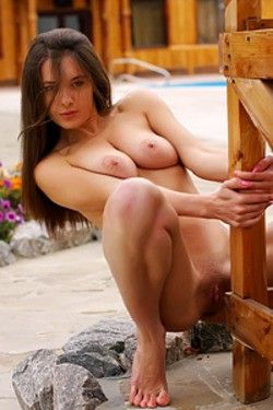 Brunette Model Playing Nude