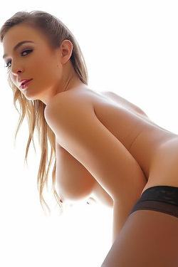 Blair Williams Posing In Sexy Black Stockings