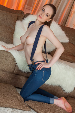 Sexy Teen Babe Nessie Slips Out Of Her Jeans