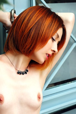 Topless, hot redhead Night A