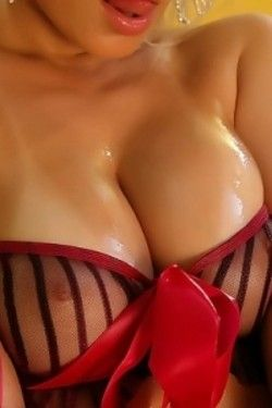 Sexy Ann Angel oiled tits