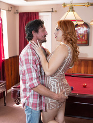 Redhead Pornstar Edyn Blair Fucked On The Pool Table